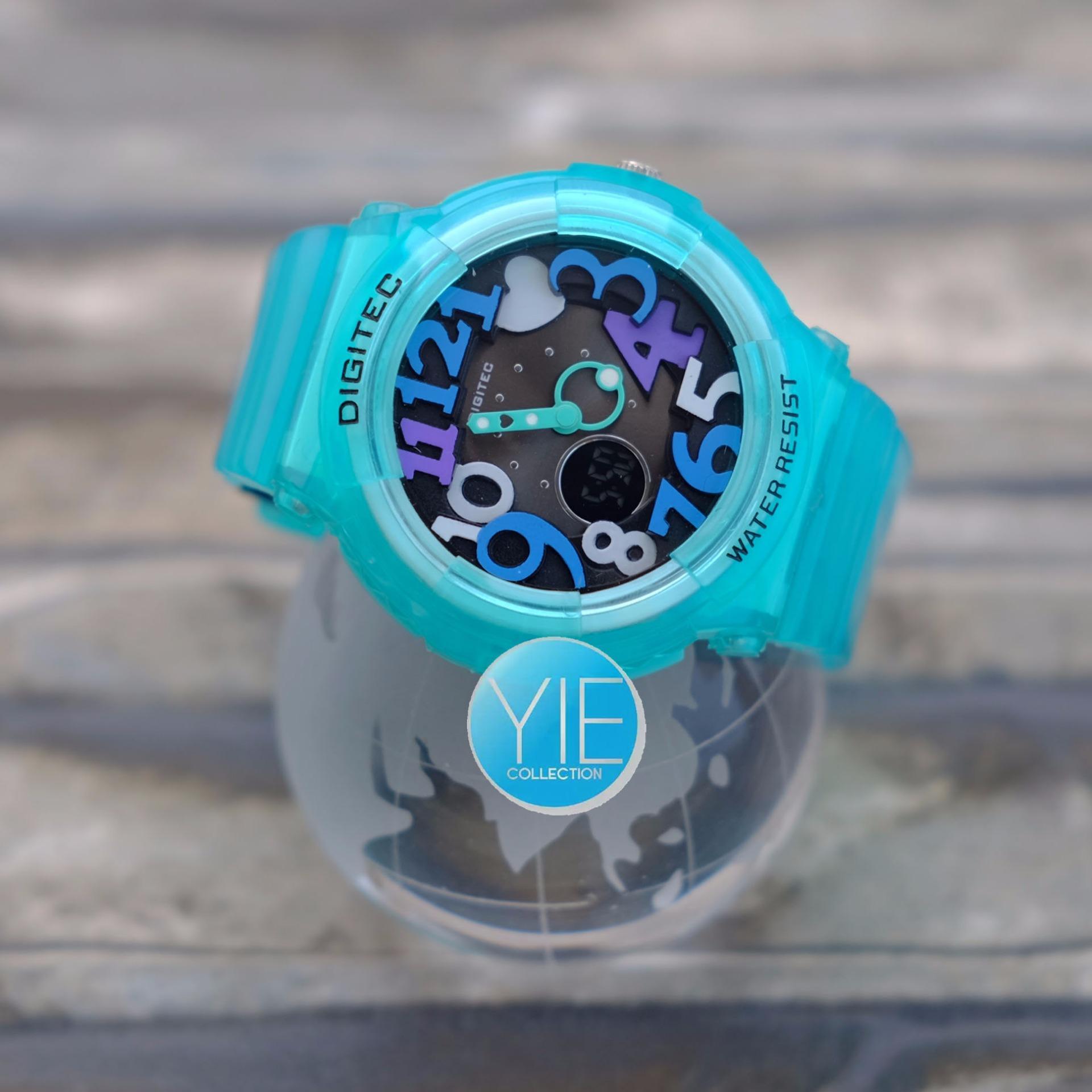 Digitec Jam Tangan Wanita DG 3010 T Dual Time Water Resistant - Turquoise . d20b7c8e8c