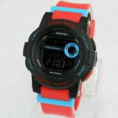 Digitec Murah Wanita Tipe 2074 - Original Anti Air - Red Mix Black