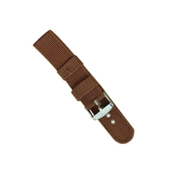 DJ High Quality Store New Men Strong Infantry Military Wrist Armynylon Canvas Strap Band For Watch 20Mm - intl