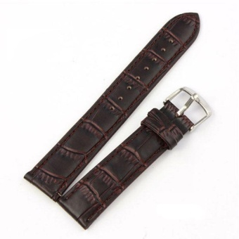 DJ Women Men High Quality Unisex Buckle Stainless Steel Leather Watchstrap Band 16Mm - intl