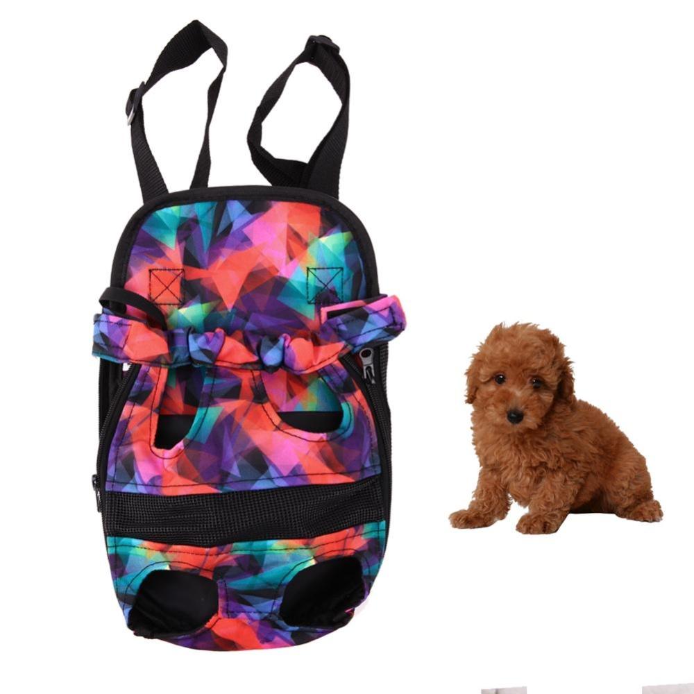 Dog Carrier Travel Dog Backpack Breathable Pet Bags Shoulder PetCarrier(Multicolor)-M - intl