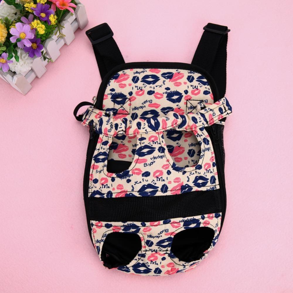 Dog Carrier Travel Dog Backpack Breathable Pet Bags Shoulder PetCarrier(Pink)-M - intl