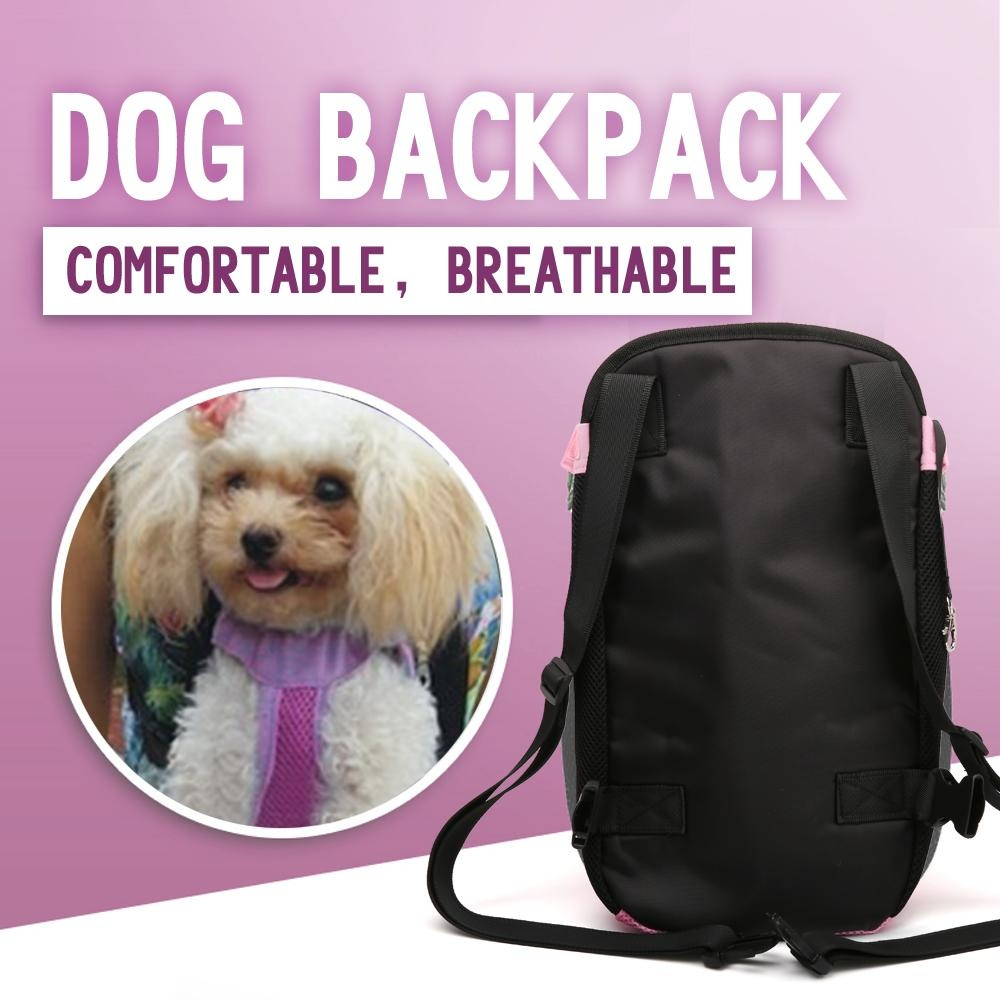 Dog Cat Pet Puppy Dog Carrier Backpack Pet Dogs Cat Legs Out Front Carrier Bag(L) - intl