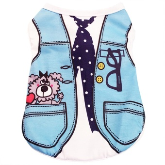 Dog Clothes for Dogs Summer Cotton Soft Puppy Vest Clothing forSmall Dogs Cats Pet T-shirt Outwear M
