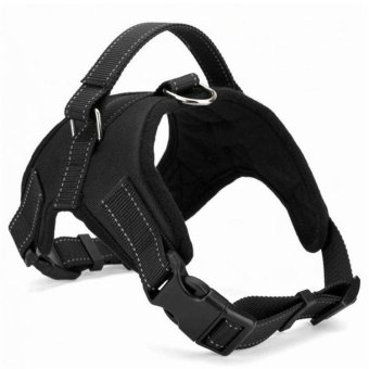 Dog Harness Adjustable Pet Dog Big Exit Harness Vest Collar Strapfor Small and Large Dogs Pitbulls - Black(L) - intl
