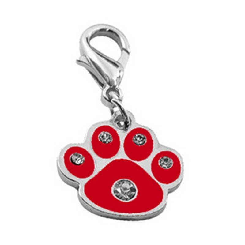 Dog Necklace Paw Print Cat Pendant Charm Pet Collars Mosaic 1 Pcs Pet Jewllery - intl