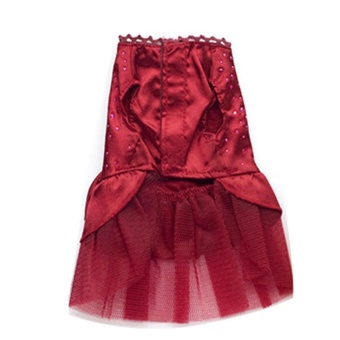 Dog Puppy Wedding Party Lace Skirt Clothes Bow Tutu Princess Dress Pet Apparel - Red S - intl