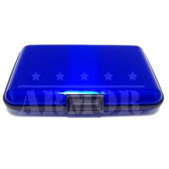 Dompet Kartu Kredit Credit Card Wallet Aluminium Caddy Anti Air WaterProof - Biru - 2