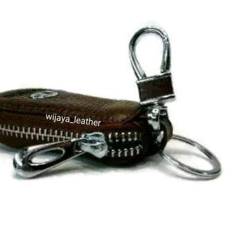 dompet kunci mobil / gantungan kunci mobil motor / dompet stnk kulit asli - 3