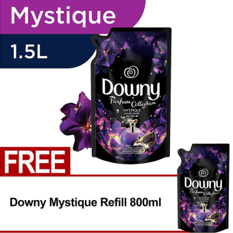 Downy Mystique Refill 1.5L FREE Downy Mystique Refill 800ml