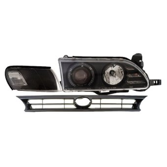 Eagle Eyes - Headlamp Projector Angel Eyes Ccfl Great Corolla Black
