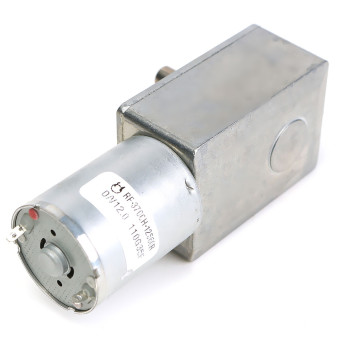 Electric High Torque Turbo Worm Gearbox Geared Motor DC MotorJGY370 12V 2rpm- intl