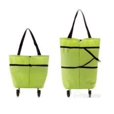 Emyli Trolley Bag Cart Lipat - Tas Troly / Troli Keranjang Foldable hijau