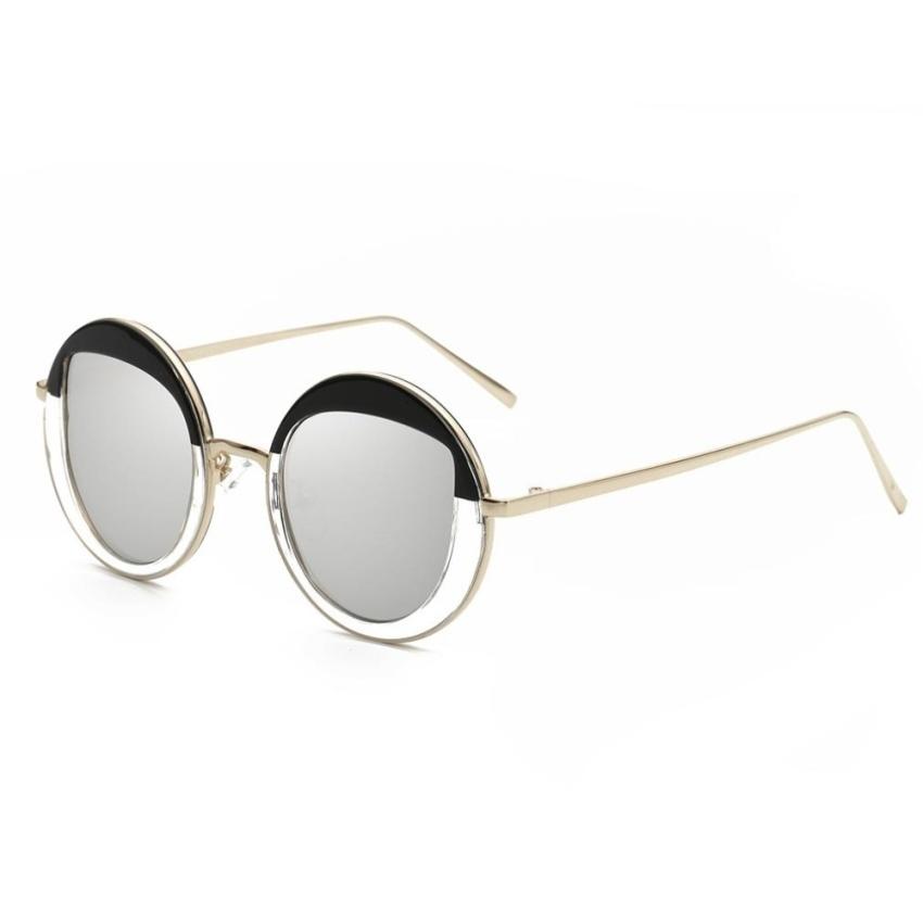 ... ERA Hindfield Fashion Korean Style Metal Sunglasses WomenRoundSunglasses #850 Gold Frame - intl ...