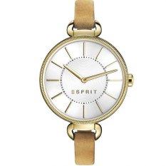 Esprit ES108582001 - Jam Tangan Wanita - Tali Kulit - Gold White