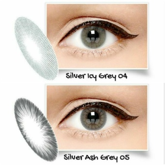 Harga Exoticon X2 ice gold silver softlens- icy grey 04 (normal)