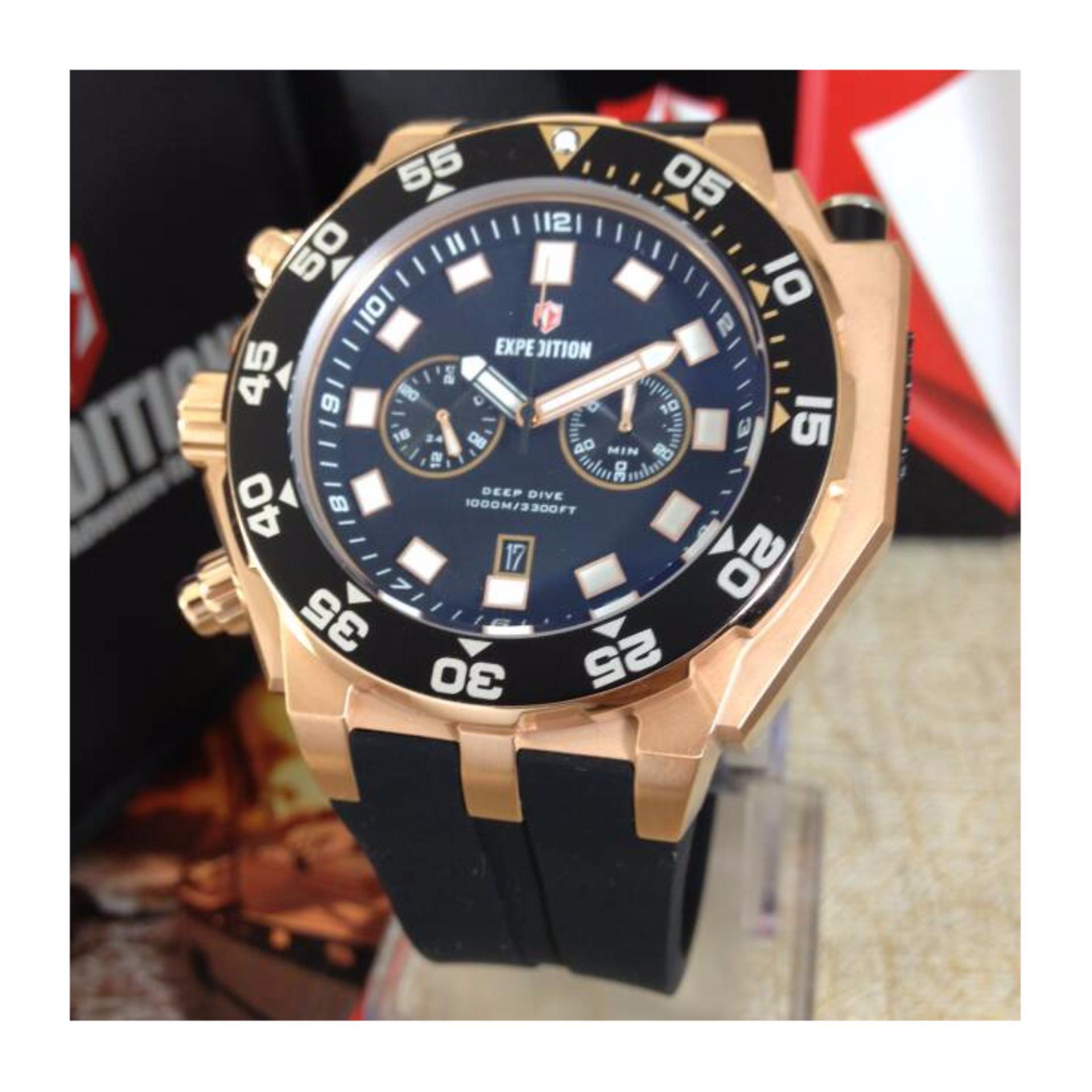 Expedition 6641 Rose Gold Jam Tangan Diving Pria Original