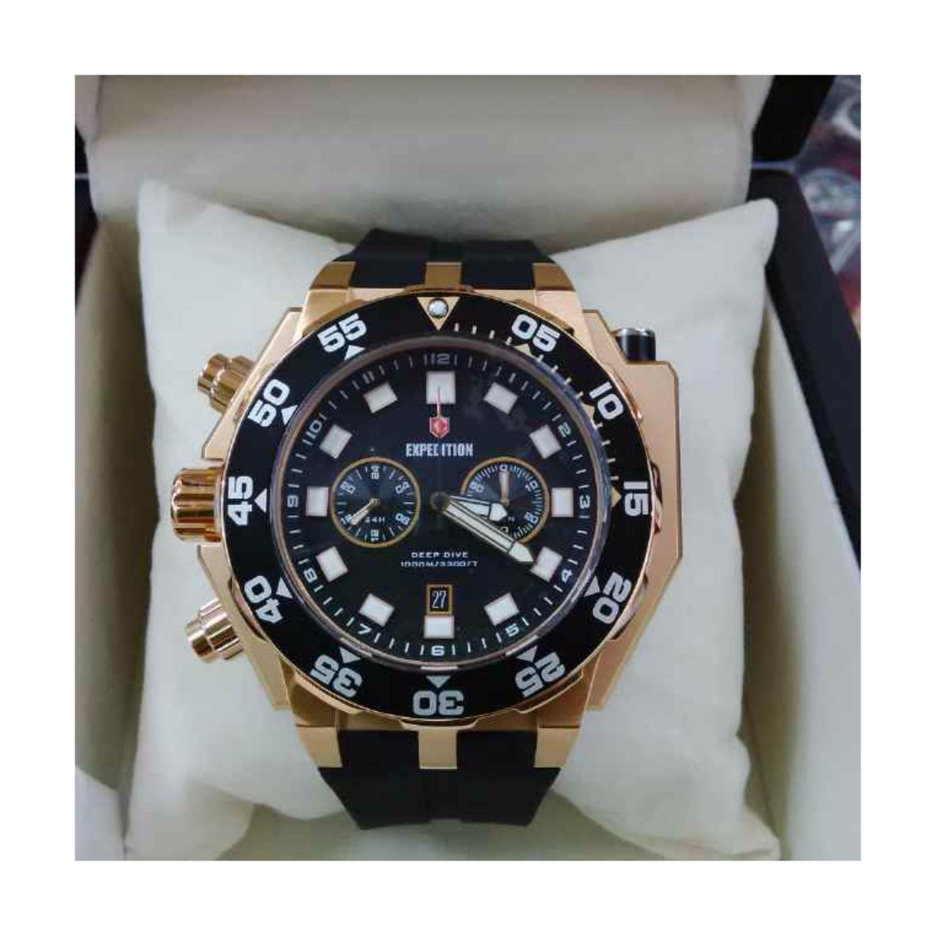 Expedition 6641 Rose Gold Jam Tangan Diving Pria Original