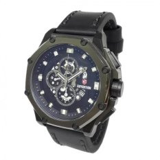 Expedition 6686MCLEPBA Black Jam Tangan Pria