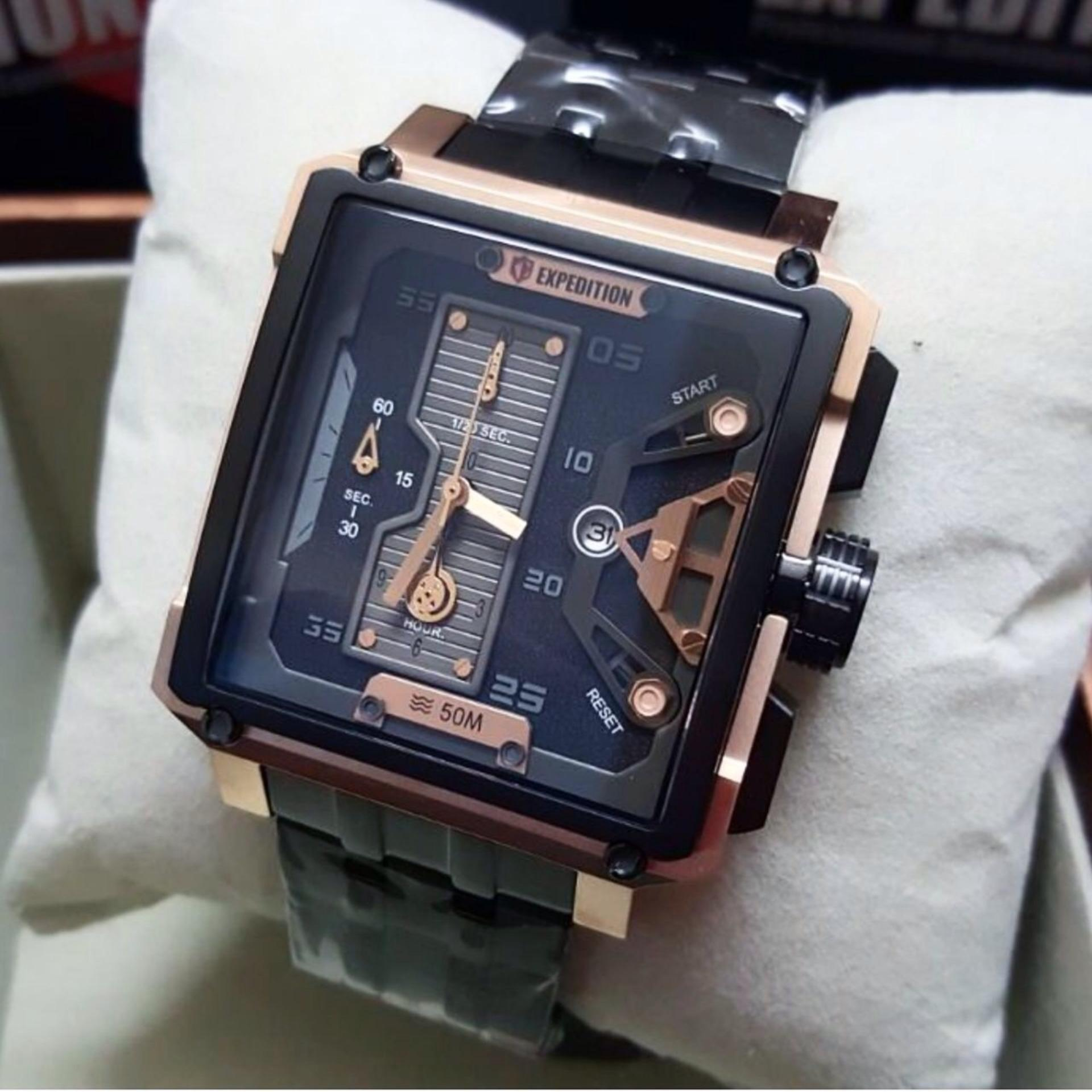 Expedition 6699 Rose Gold Original Jam Tangan Pria Daftar Harga E6699 Brown Black E6292m Stainless Steel Hitam Rosegold