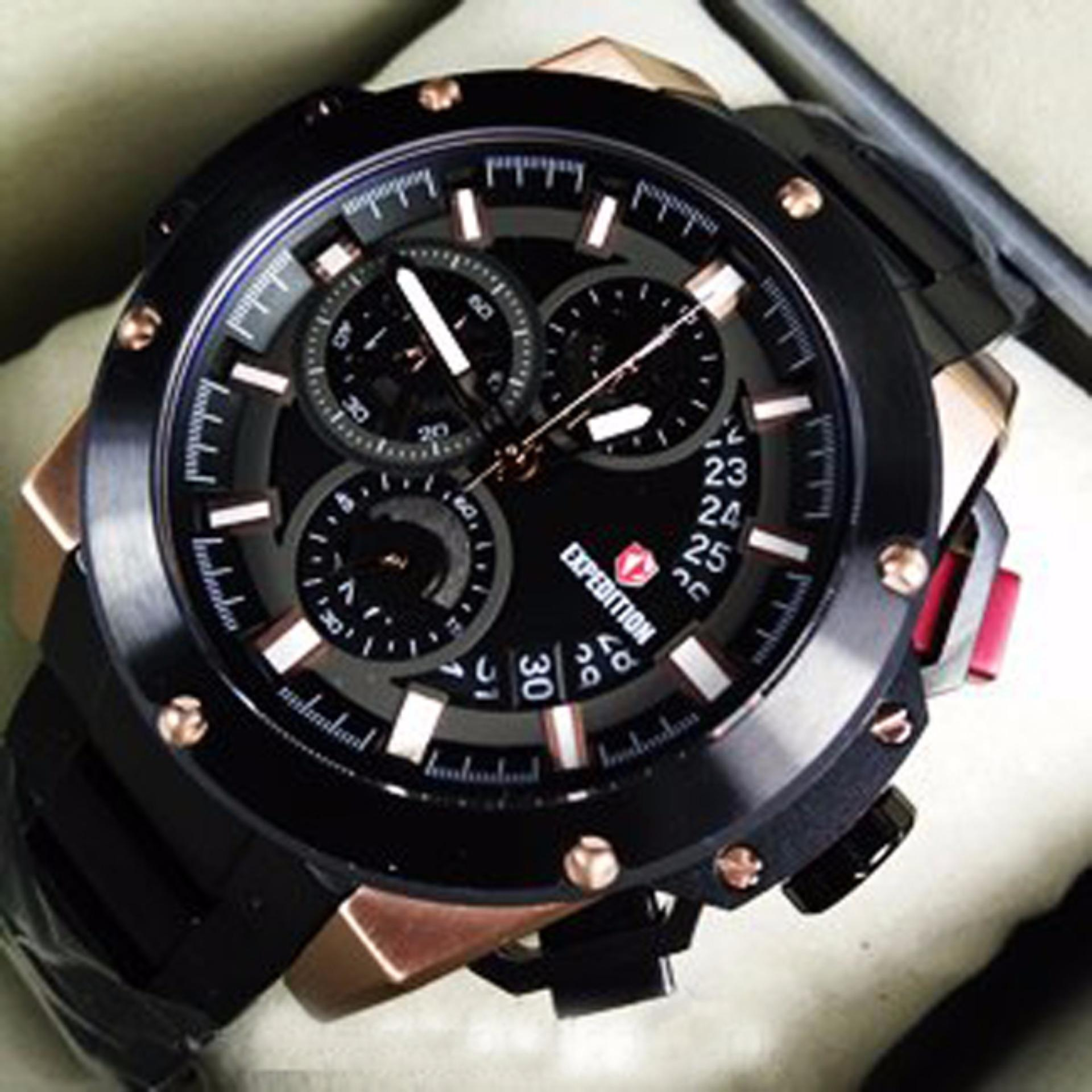 Expedition Ex089 J Jam Tangan Pria Kulit Original Daftar Harga 6721 Black Merah E6694mrrb Rose Limited Edition