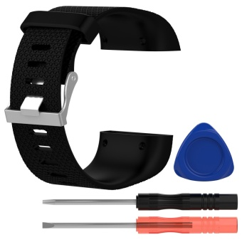 Fashion Cool Silicone Replacement Strap Band Wristband Bracelet with Screwdriver Tools for Fitbit Surge Watch Size