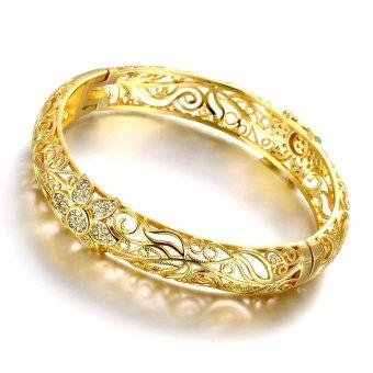 Fashion Perhiasan Wanita Gelang Manset Berlapis Emas Gelang