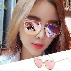 Fashion Women Sunglasses Sunscreen Anti-UV Color Film Sunglasses ( Gold Pink) - intl