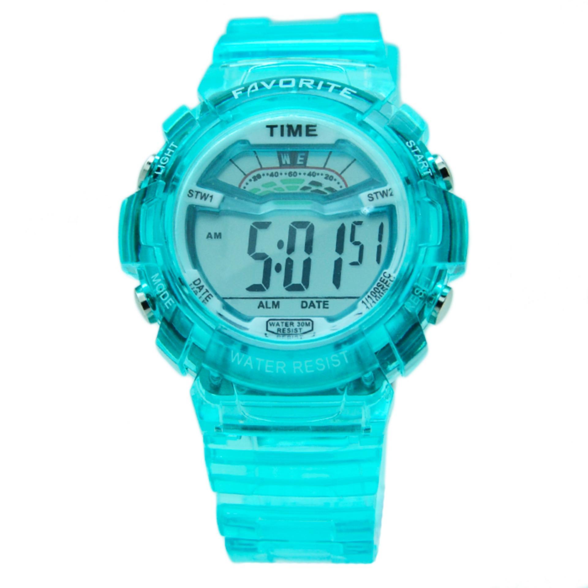 Skmei Digital Sport Watch Water Resistant 50m Dg1206 Jam Tangan Pria Wanita 1206 Thin 30m Black Favourite Fav02 Biru