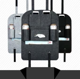 Felt cloth pouch car back seat hanging bags Zhiwu Dai car with bagsof debris storage box(Pink) - 3