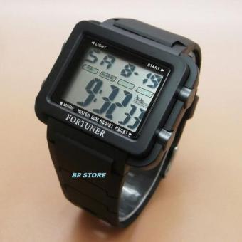 Fortuner J-970 - Jam tangan Sport Pria - Rubber Strap [Black]