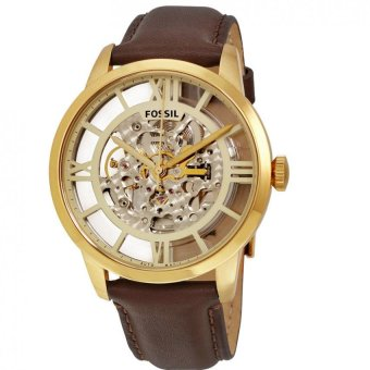 Fossil Automatic Original ME3043 - Jam Tangan Pria - Dark Brown Gold