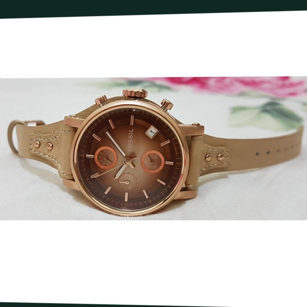 Price Checker Fossil Boyfriend Chronograph Jam Tangan Wanita Original Es3712 Krem Tali Kulit Es3748kr