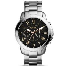 Fossil Grant Chronograph Black Dial Stainless Steel Men's Watch FS4994‎