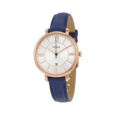 Fossil Jacqueline Navy Leather Watch ES3843