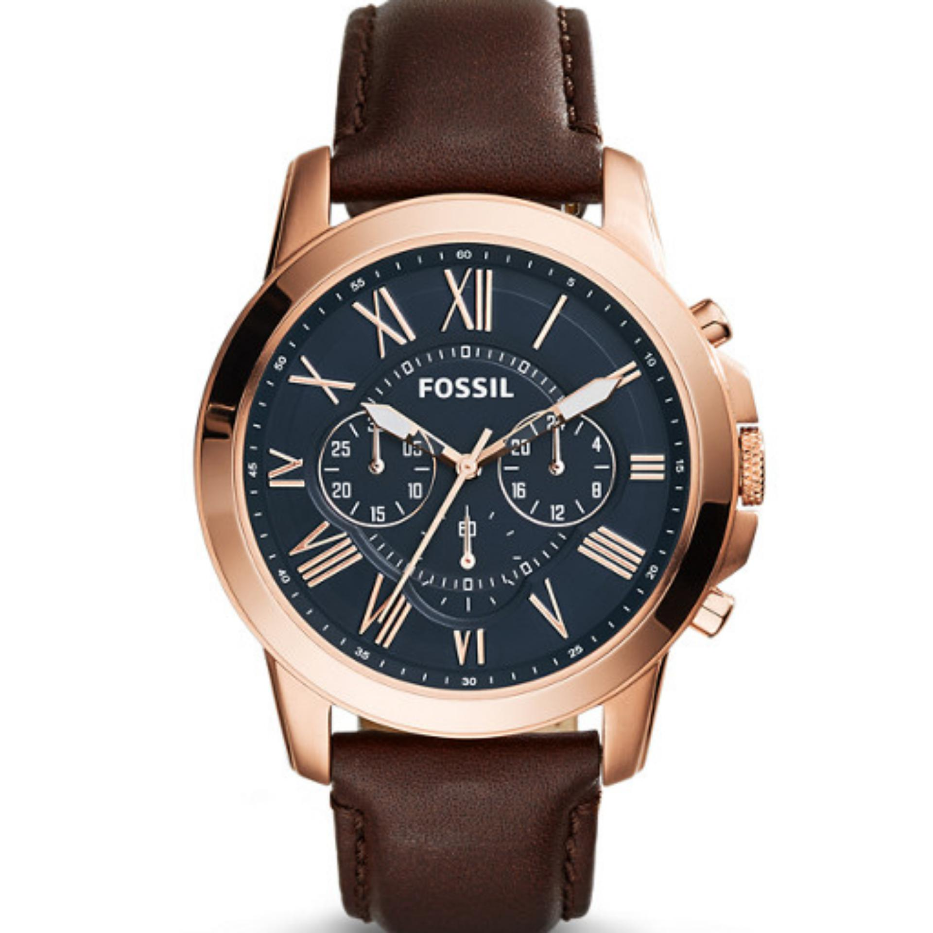Fossil Me1144 Jam Tangan Pria Leather Brown Update Daftar Harga Es4060 Unisex Silver Fs5068 Grant Chronograph Watch