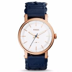 Fossil Original Boyfriend Sport Three-Hand Navy Leather Watch, ES 4182