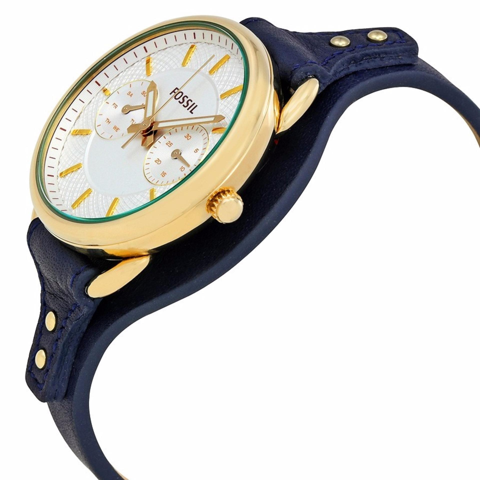 Fossil Tailor Multifunction Blue Leather Women's Watch, ES 4051 .
