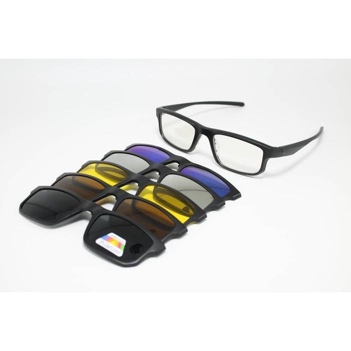 Frame Kacamata Minus Fashion Clip On 6522 Sunglasses Pria Wanita - Nrqysf a0609f759a