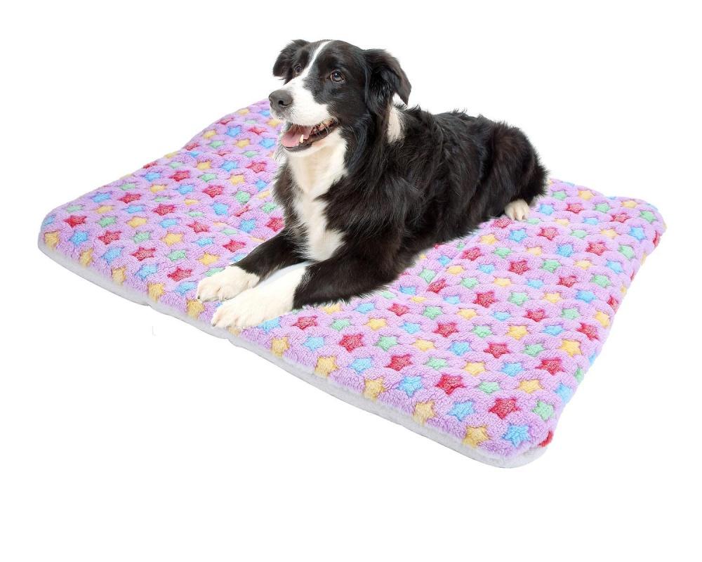fuskm Pet Dog Sleep Mat Wool Soft Warm Cushion For Cat.(RandomColor.) - intl