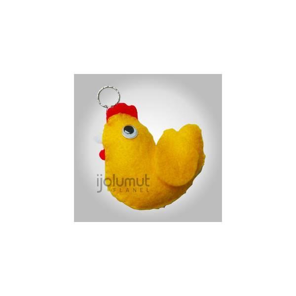 Kebaruan Silikon Portabel Pisang Koin Pensil Tas Kantong Dompet Source · Gantungan Kunci Kain Flanel Ayam Kuning