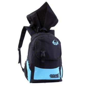 Garsel Tas Ransel Backpack Sekolah - Hitam - Plus Gratis Hoodie