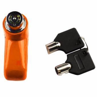 Gembok Cakram Tipe C-045 - Kunci Cakram - Kunci Disk - Disc Brake Lock Ring Pendek - Coklat - 2
