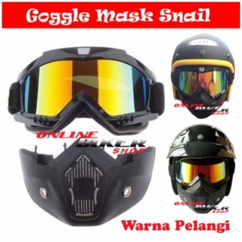 Google Mask + Kacamata Goggle Mas Snail Antman