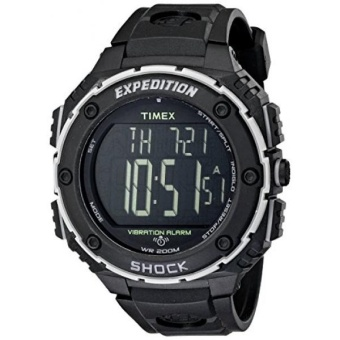 GPL/ Timex Mens T49950 Expedition Shock XL Vibrating Alarm Black Resin Strap Watch/ship from USA - intl