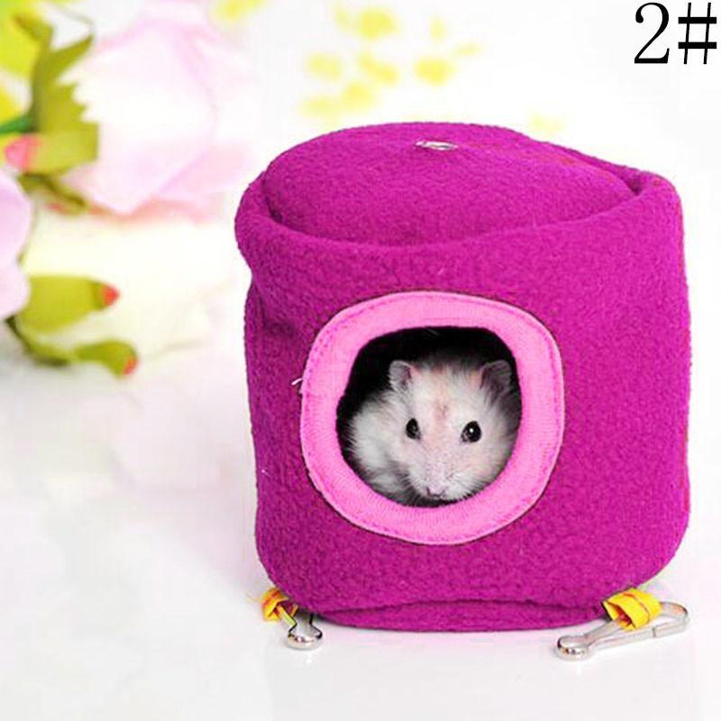 Gracefulvara Rat Hamster Parrot Ferret Rabbit Squirrel Pet Hammock Warm Hanging Bed Toy House-Rose Red - intl