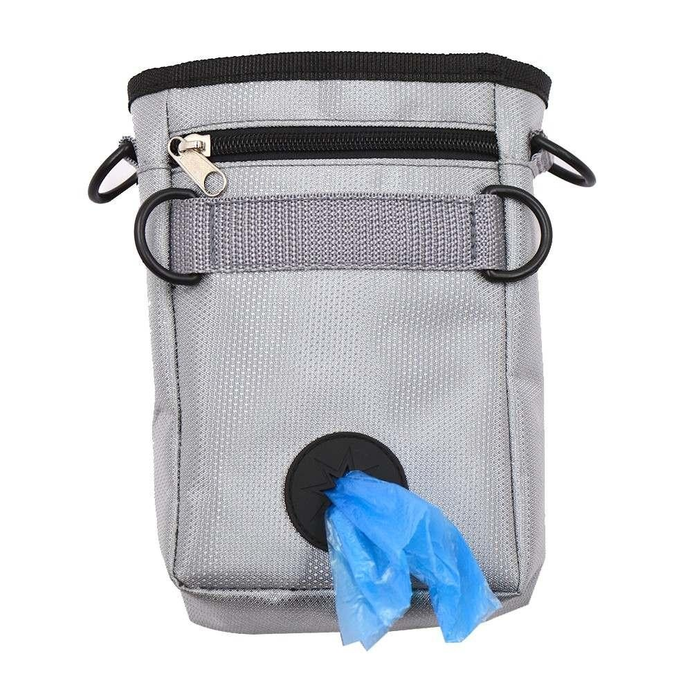 Gray Practical Puppy Pet Dog Snack Bags Treat Training Bait Food Pouch Waist Bag - intl