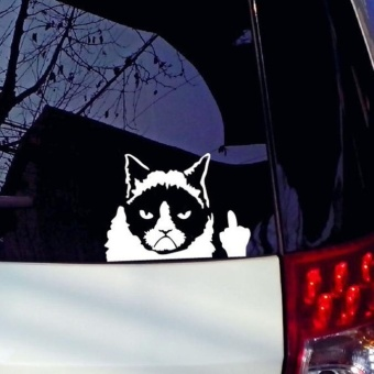 Harga Grumpy Cat Funny Car Sticker Vinyl Art Graphics Decals For Car Bumper Window - intl