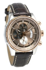 Guess Collection Gc X81012G5S Brown Leather Strap Jam Tangan Pria