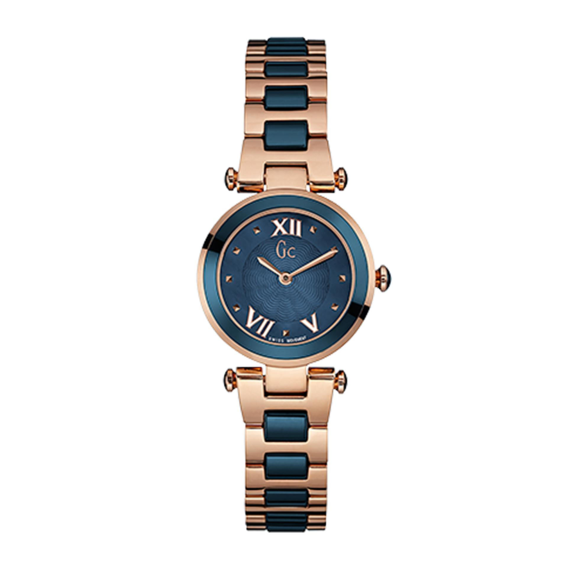 ... Guess Collection - Jam Tangan Wanita - Rosegold Komb Biru - Stainless Steel - Y07010L7 ...